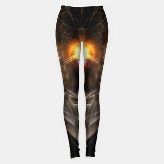 Thumbnail image of Light Of The Dragon Fractal Art Composition Leggings, Live Heroes