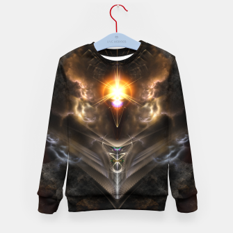 Thumbnail image of Light Of The Dragon Fractal Art Composition Kid's sweater, Live Heroes