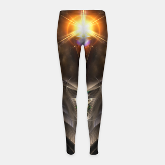 Thumbnail image of Light Of The Dragon Fractal Art Composition Girl's leggings, Live Heroes