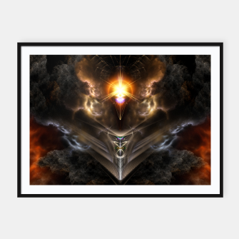 Thumbnail image of Light Of The Dragon Fractal Art Composition Framed poster, Live Heroes