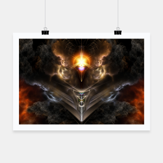 Thumbnail image of Light Of The Dragon Fractal Art Composition Poster, Live Heroes