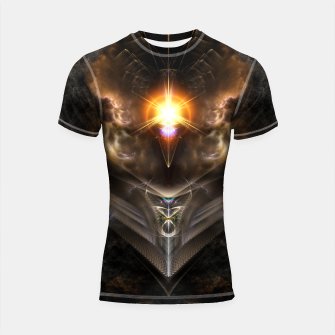 Thumbnail image of Light Of The Dragon Fractal Art Composition Shortsleeve rashguard, Live Heroes