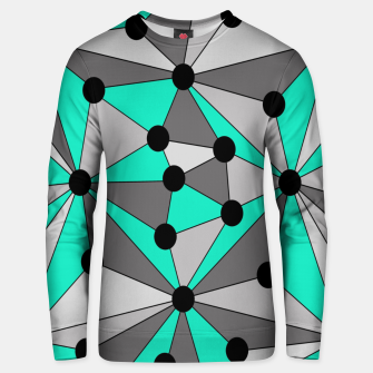 Thumbnail image of Abstract geometric pattern - gray and turkiz. Unisex sweater, Live Heroes