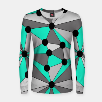 Miniatur Abstract geometric pattern - gray and turkiz. Women sweater, Live Heroes
