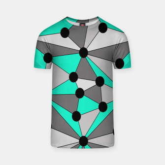 Thumbnail image of Abstract geometric pattern - gray and turkiz. T-shirt, Live Heroes