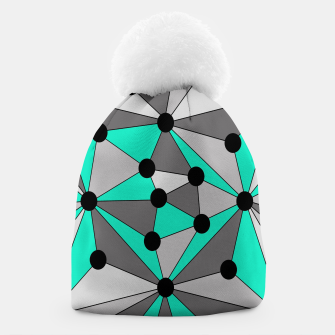 Miniature de image de Abstract geometric pattern - gray and turkiz. Beanie, Live Heroes