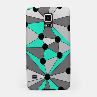 Miniaturka Abstract geometric pattern - gray and turkiz. Samsung Case, Live Heroes