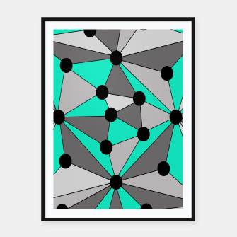 Miniaturka Abstract geometric pattern - gray and turkiz. Framed poster, Live Heroes