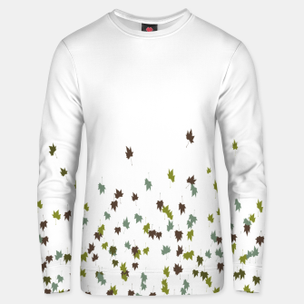 Multicolor Leaves Motif Pattern Print Unisex sweater obraz miniatury
