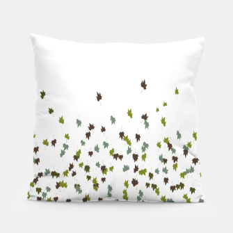 Multicolor Leaves Motif Pattern Print Pillow obraz miniatury