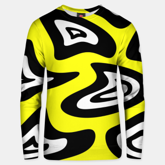 Thumbnail image of Abstract pattern - yellow, black and white. Unisex sweater, Live Heroes