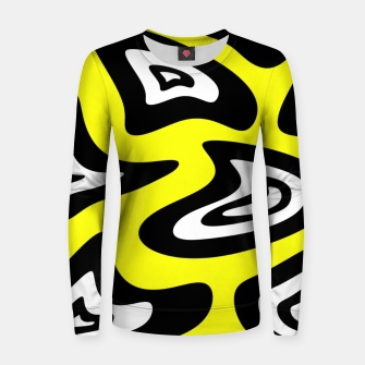 Thumbnail image of Abstract pattern - yellow, black and white. Women sweater, Live Heroes
