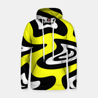 Thumbnail image of Abstract pattern - yellow, black and white. Hoodie, Live Heroes