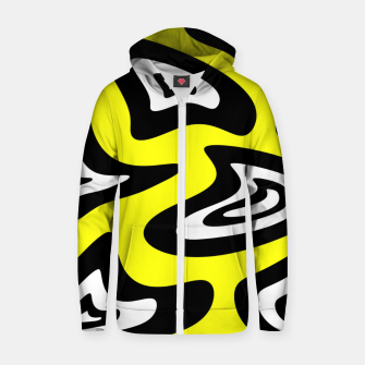 Thumbnail image of Abstract pattern - yellow, black and white. Zip up hoodie, Live Heroes