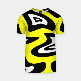 Thumbnail image of Abstract pattern - yellow, black and white. T-shirt, Live Heroes