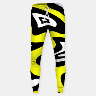 Thumbnail image of Abstract pattern - yellow, black and white. Sweatpants, Live Heroes