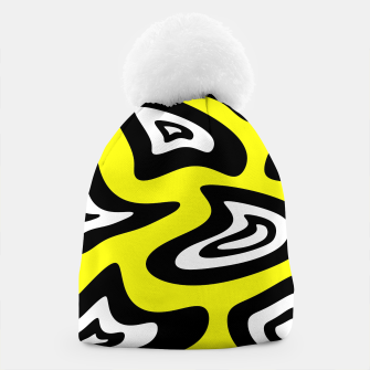 Miniature de image de Abstract pattern - yellow, black and white. Beanie, Live Heroes