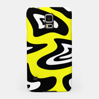 Thumbnail image of Abstract pattern - yellow, black and white. Samsung Case, Live Heroes