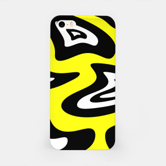 Thumbnail image of Abstract pattern - yellow, black and white. iPhone Case, Live Heroes