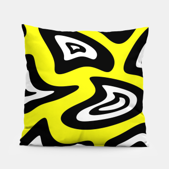 Thumbnail image of Abstract pattern - yellow, black and white. Pillow, Live Heroes