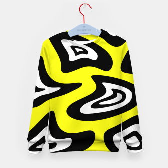 Thumbnail image of Abstract pattern - yellow, black and white. Kid's sweater, Live Heroes