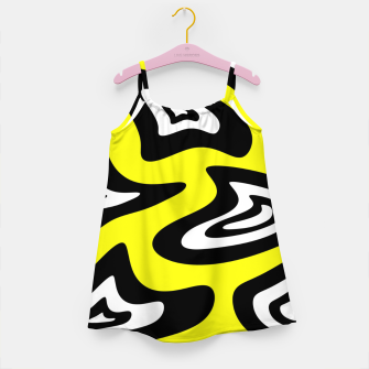 Thumbnail image of Abstract pattern - yellow, black and white. Girl's dress, Live Heroes