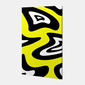 Thumbnail image of Abstract pattern - yellow, black and white. Canvas, Live Heroes