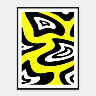 Thumbnail image of Abstract pattern - yellow, black and white. Framed poster, Live Heroes