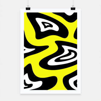 Thumbnail image of Abstract pattern - yellow, black and white. Poster, Live Heroes