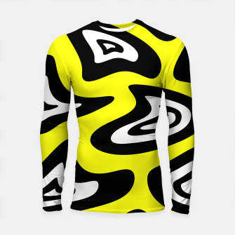 Thumbnail image of Abstract pattern - yellow, black and white. Longsleeve rashguard , Live Heroes