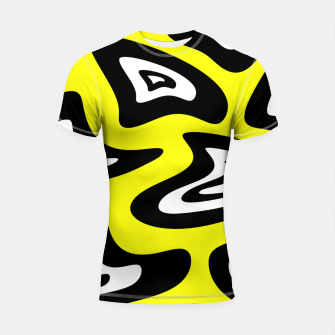 Thumbnail image of Abstract pattern - yellow, black and white. Shortsleeve rashguard, Live Heroes