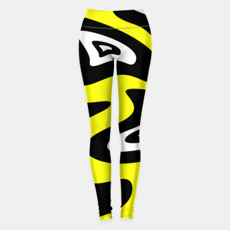 Thumbnail image of Abstract pattern - yellow, black and white. Leggings, Live Heroes