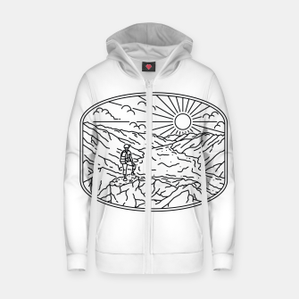 Thumbnail image of Hiker Zip up hoodie, Live Heroes