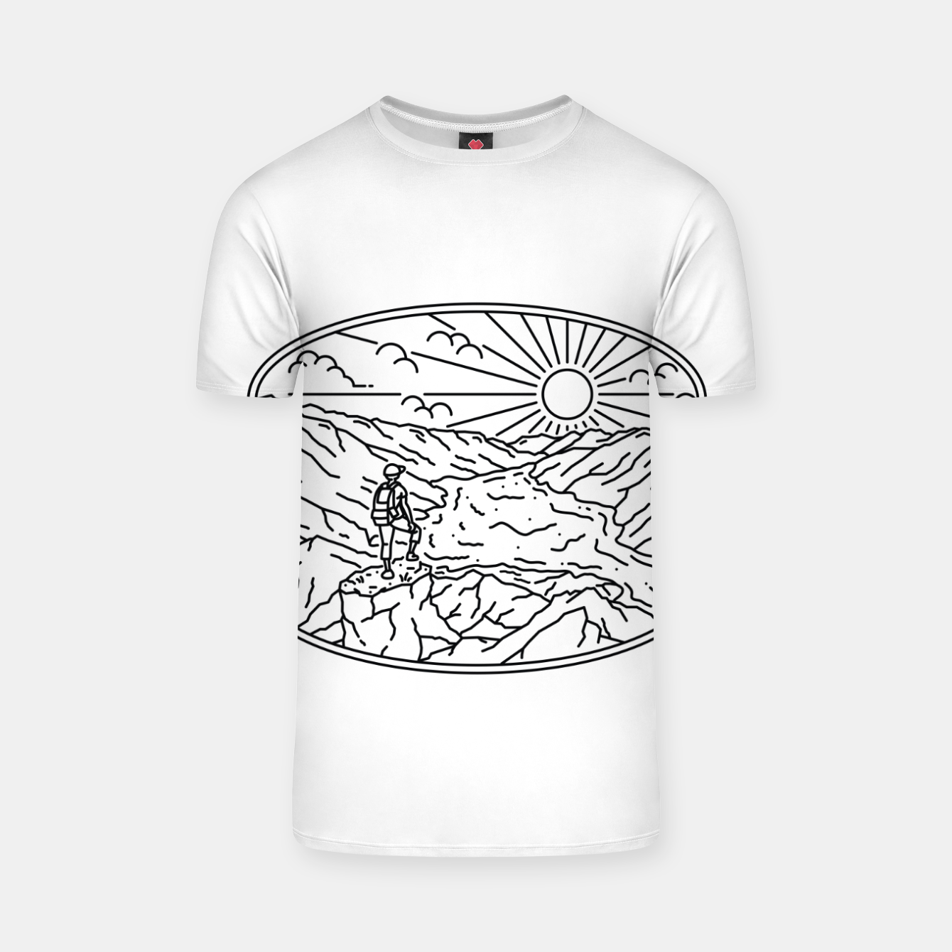 Image of Hiker T-shirt - Live Heroes