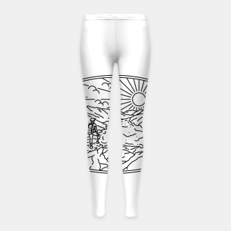 Miniatur Hiker Girl's leggings, Live Heroes