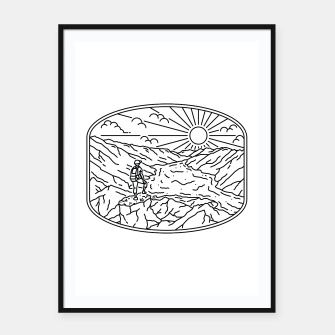 Thumbnail image of Hiker Framed poster, Live Heroes