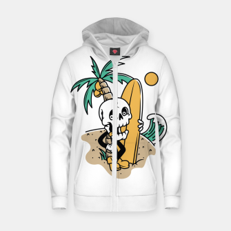 Thumbnail image of Skull Ready to Surf Zip up hoodie, Live Heroes