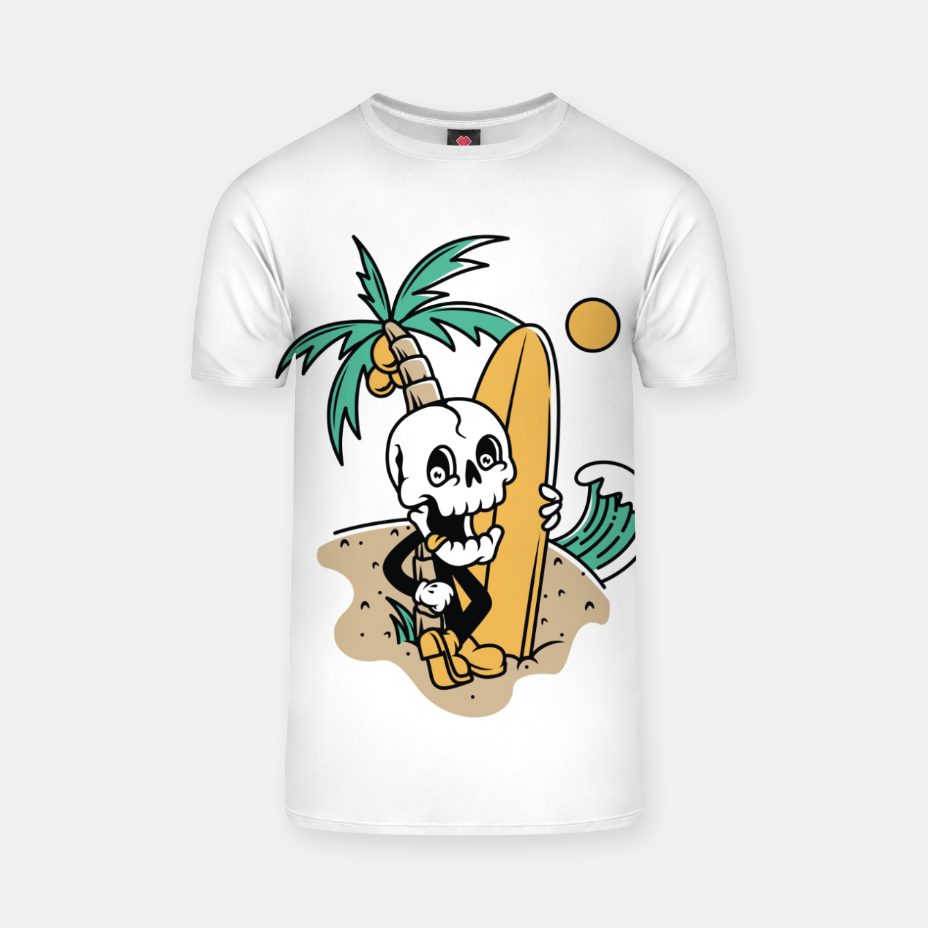 Foto Skull Ready to Surf T-shirt - Live Heroes