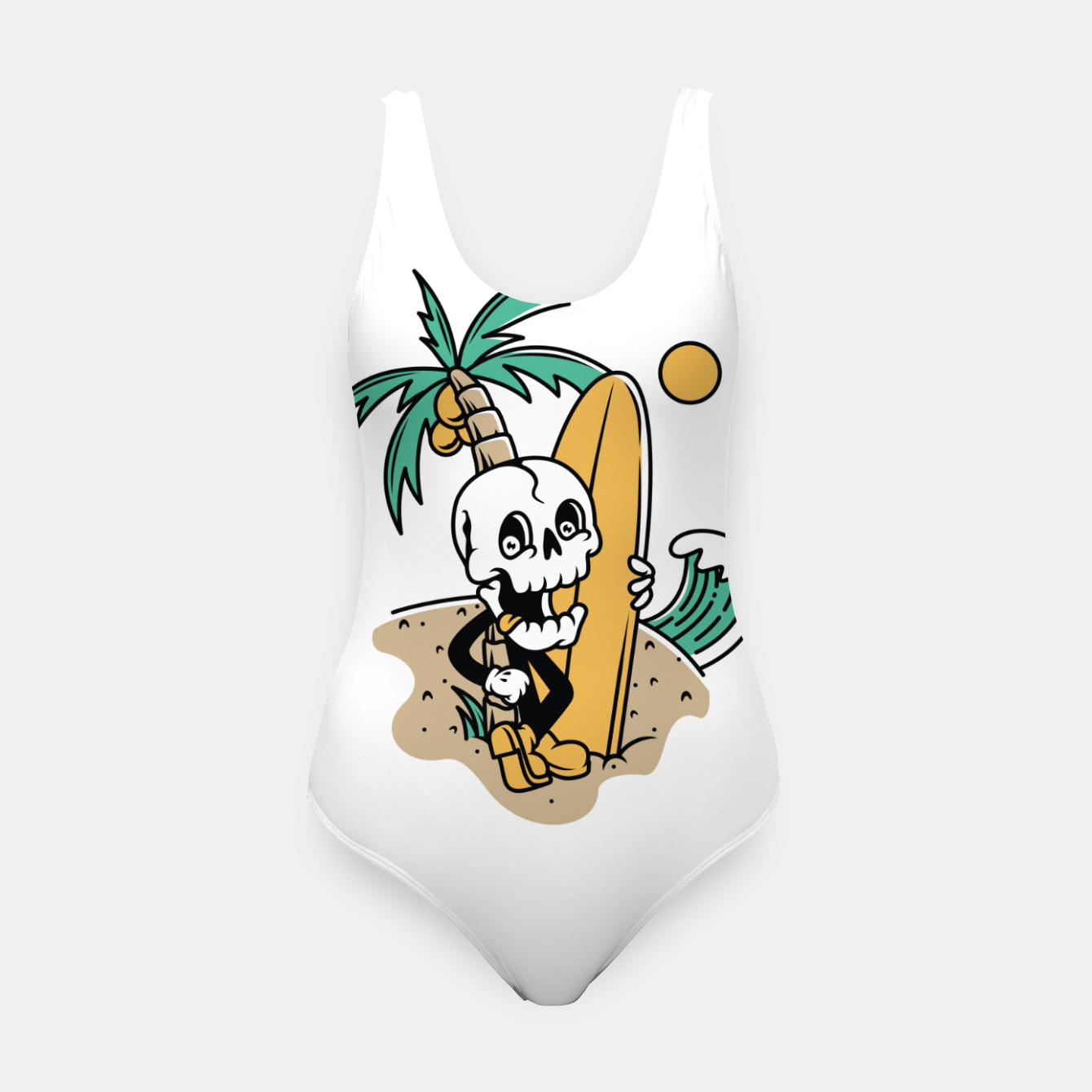 Foto Skull Ready to Surf Swimsuit - Live Heroes