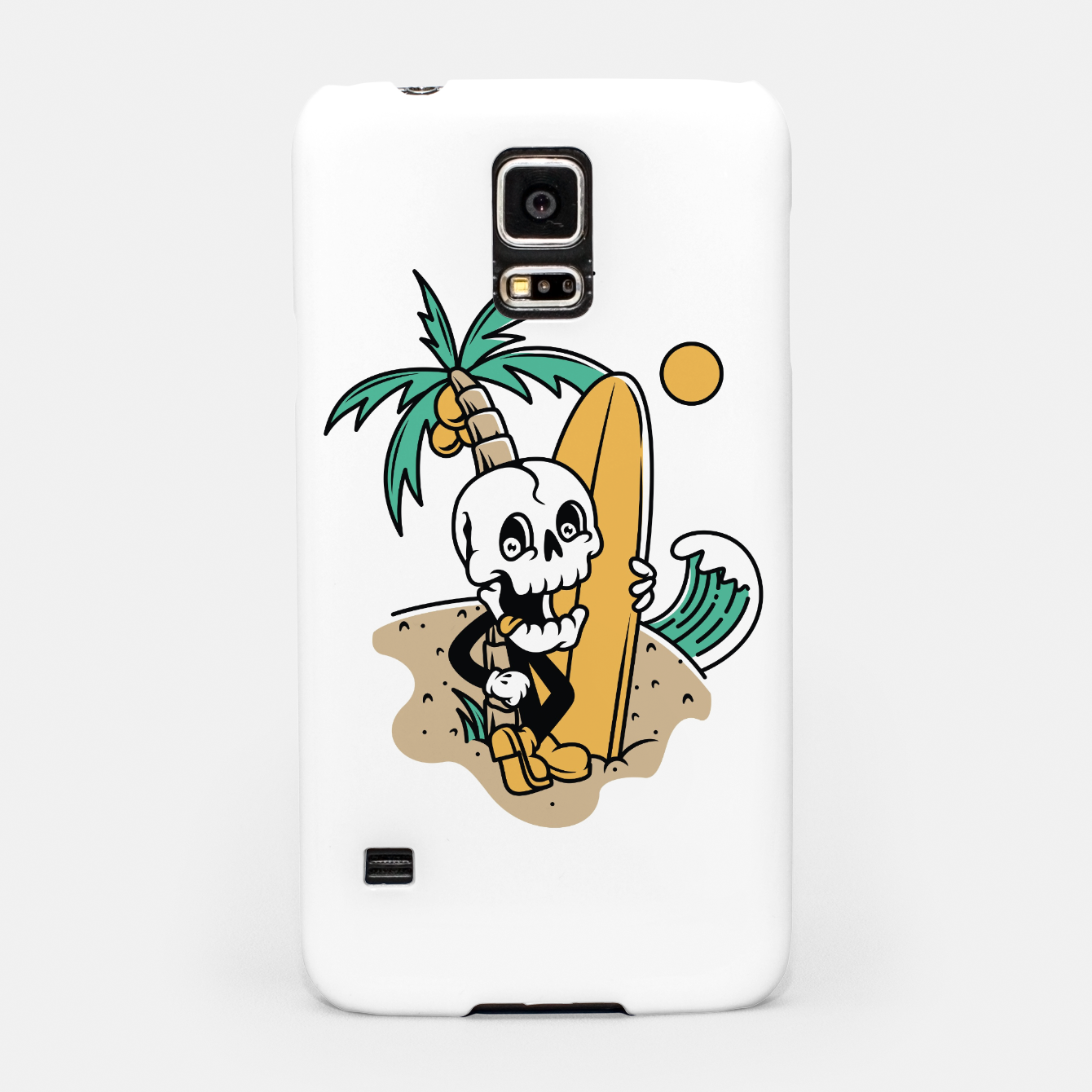 Foto Skull Ready to Surf Samsung Case - Live Heroes