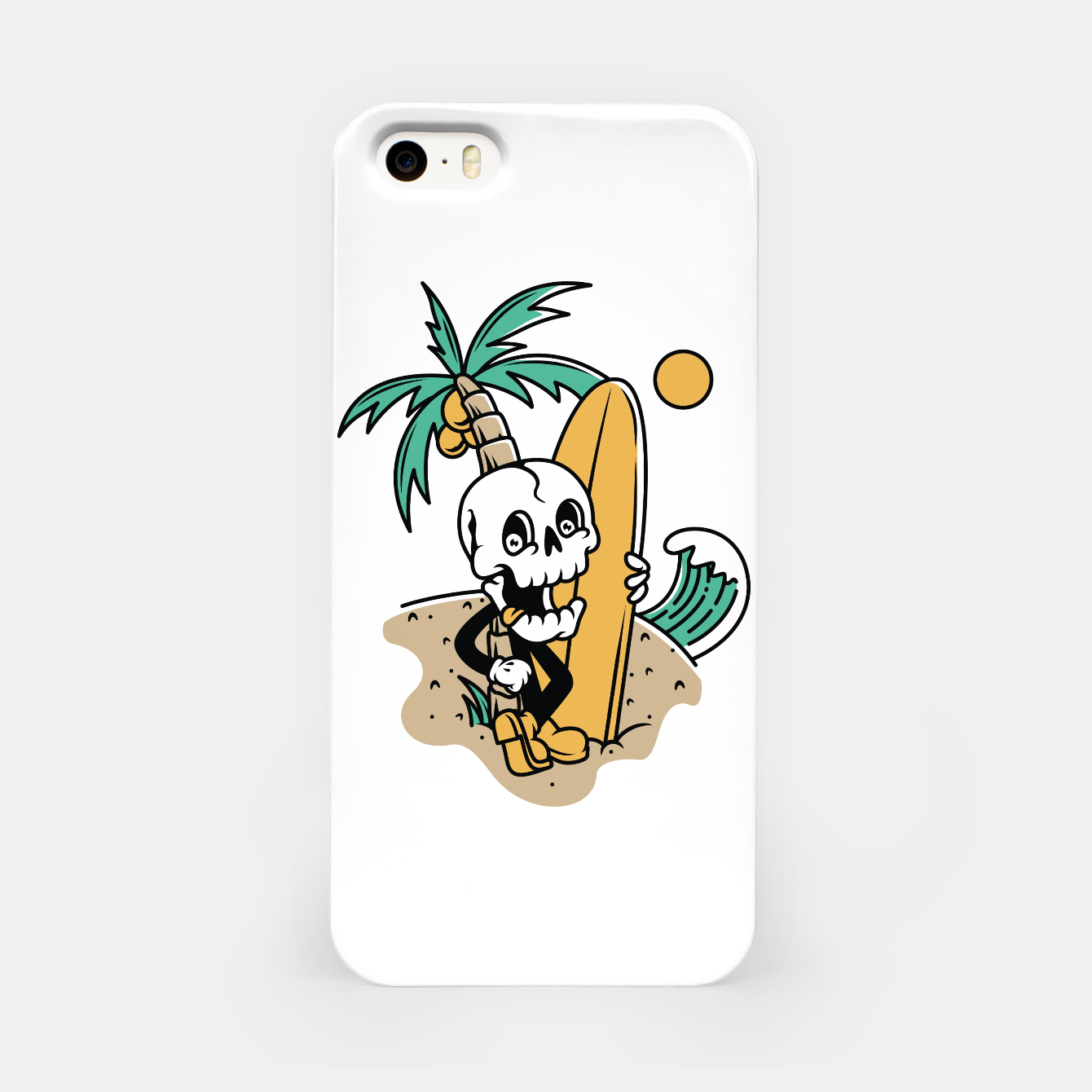 Foto Skull Ready to Surf iPhone Case - Live Heroes