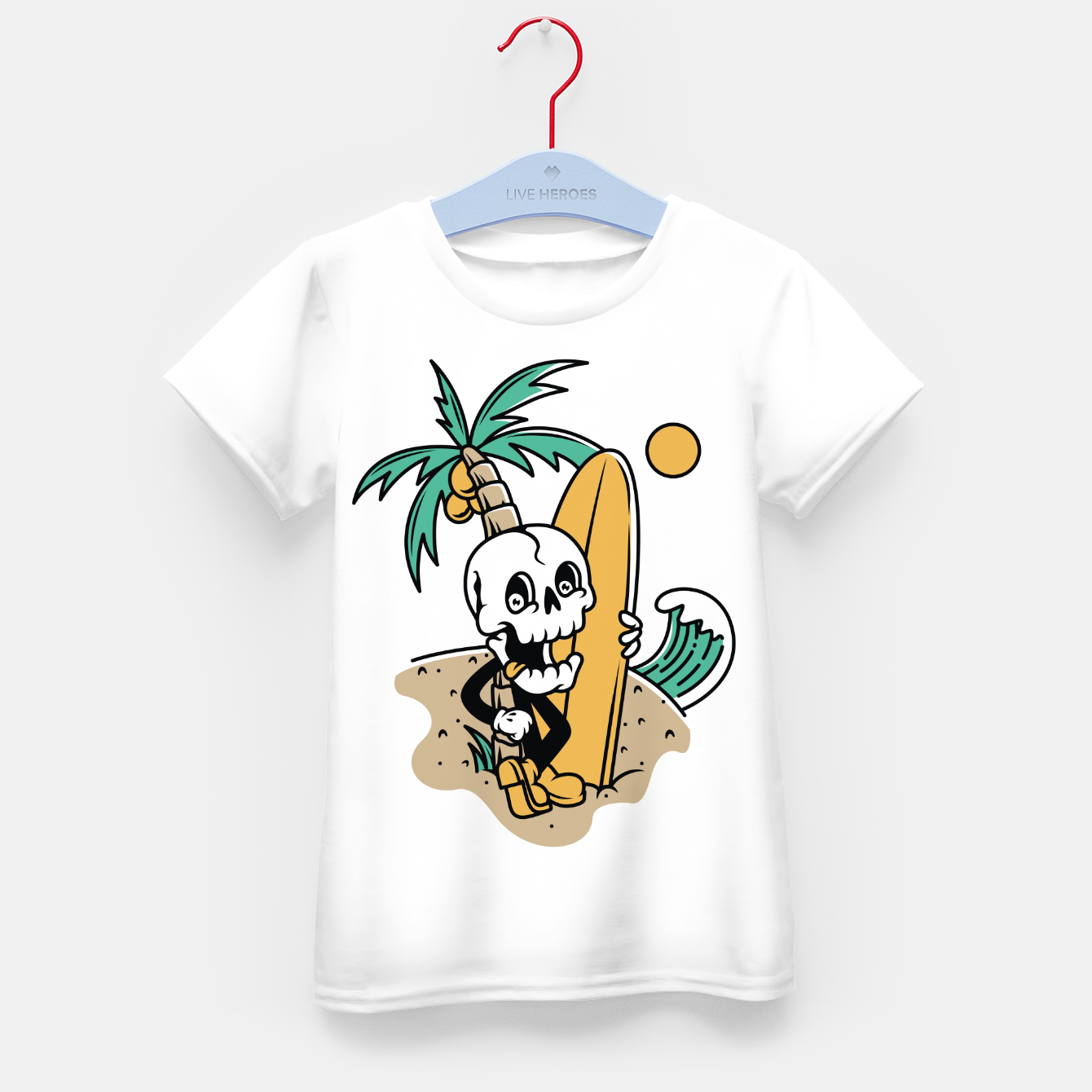 Foto Skull Ready to Surf Kid's t-shirt - Live Heroes
