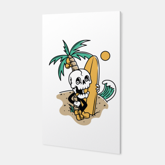 Skull Ready to Surf Canvas Bild der Miniatur