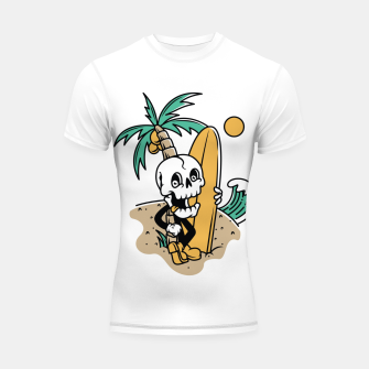 Thumbnail image of Skull Ready to Surf Shortsleeve rashguard, Live Heroes
