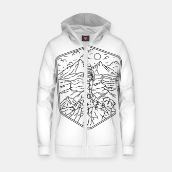 Thumbnail image of Traveler Zip up hoodie, Live Heroes