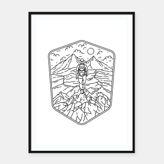 Thumbnail image of Traveler Framed poster, Live Heroes