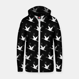 Thumbnail image of Pattern crane Sudadera con capucha y cremallera , Live Heroes