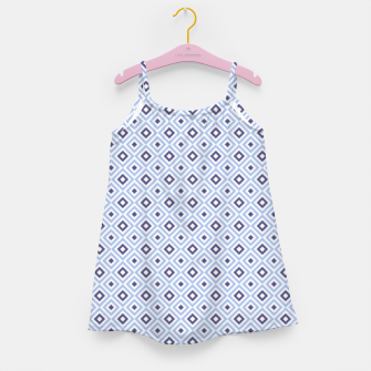 Thumbnail image of Blue Diamond Geometric Pattern Girl's dress, Live Heroes