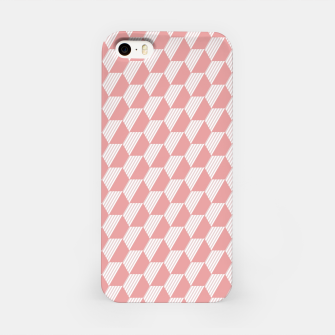 Thumbnail image of Pink Hexagonal Geometric Pattern iPhone Case, Live Heroes