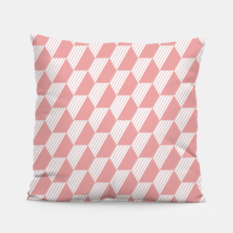 Thumbnail image of Pink Hexagonal Geometric Pattern Pillow, Live Heroes